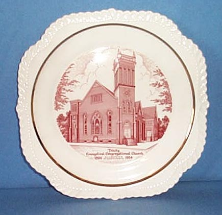 1954 Trinity Evangelical Congregational Church, Allentown, PA plate
