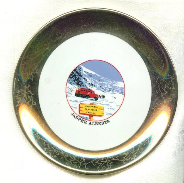 Columbia Icefields, Jasper, Alberta, Canada souvenir plate