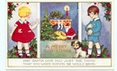 1920 Whitney Made Christmas Santa Claus postcard
