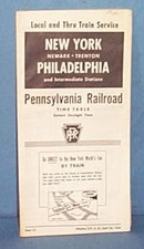 Pennsylvania Railroad New York- Philadelphia and Intermediate Points April  26, 1964 timetable