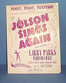 Toot, Toot Tootsie! Sheet Music  from Jolson Sings Again