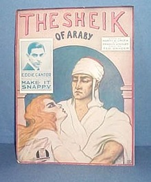 The Sheik of Araby Sheet Music as sung by Eddie Cantor