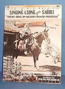 Singing a Song of the Saddle Sheet Music Theme Song on Melody Ranch Program