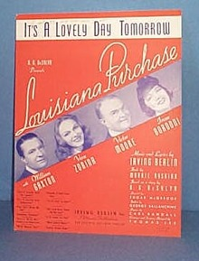 It's a Lovely Day Tomorrow  Sheet Music by Irving Berlin