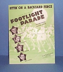 Sittin' On A Backyard Fence Sheet Music featuring James Cagney