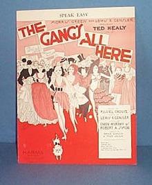 Speak Easy Sheet Music from The Gang's All Here