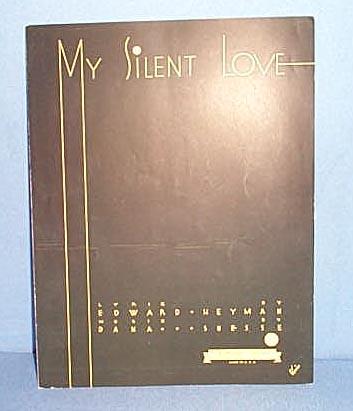 My Silent Love Sheet Music