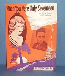 When You Were Only Seventeen Sheet Music