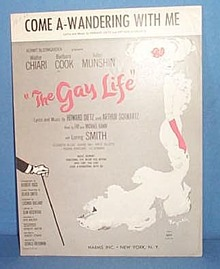 Come A-Wandering With Me Sheet Music from the musical