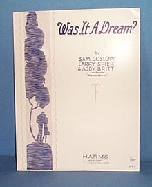 Was It A Dream? Sheet Music
