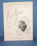 Night In My Heart Sheet Music - Grace Moore's Favorite Concert Songs