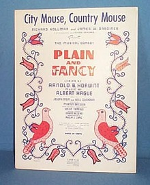 City Mouse, Country Mouse Sheet Music from musical