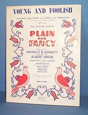 Young and Foolish Sheet Music from musical