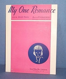 My One Romance  Sheet Music by Tschaikowsky