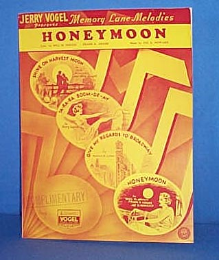 Honeymoon Sheet Music