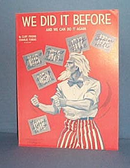 We Did It Before (And We Can Do It Again) sheet music