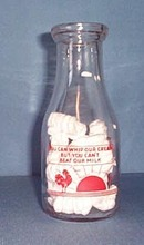 Hendricks Dairies, Perkasie, PA, Red Pyro Pint Bottle