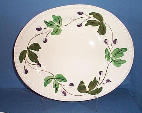 Blue Ridge Pottery Mountain Ivy platter