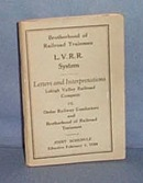 Lehigh Valley Railroad System Letters and Interpretations, 1928