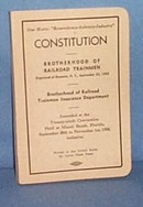 Constitution of Brotherhood of Railroad Trainmen, 1950