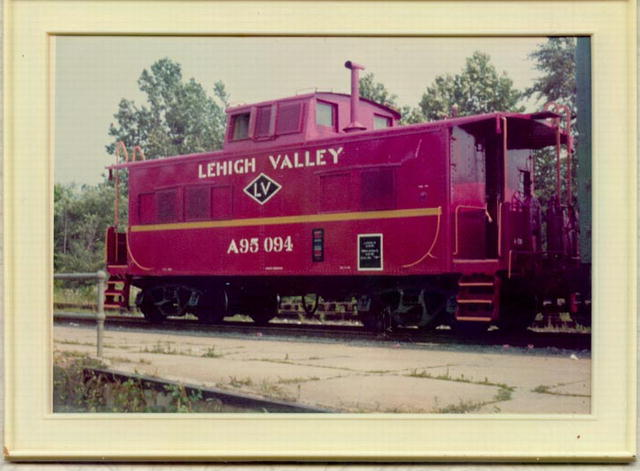 Lehigh Valley Railroad Caboose photograph