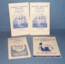 1965 Assorted Reading Railroad schedules