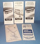 Assorted Bieber and Septa bus schedules, 1970-1983