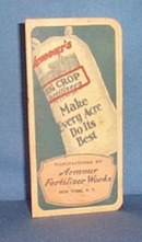 1934 Armour Fertilizer Works note book