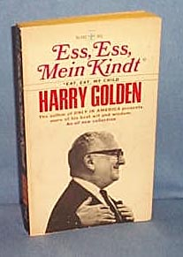 Ess, Ess, Mein Kindt Eat, Eat, My Child by Harry Golden