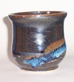 Wendt Pottery Mt. Saint Helen's Volcanic Ash Glaze pot