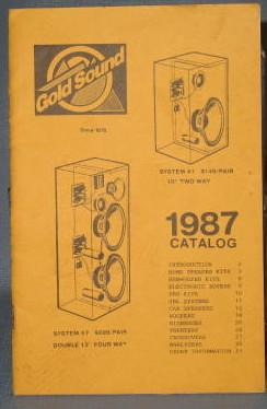 Gold Sound 1987 Catalog