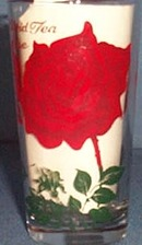 Hybrid Tea Rose glass tumbler