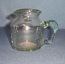 Ernest Glass blown glass pitcher