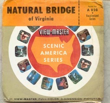 Sawyers View-Master Stereo Pictures of Natural Bridge of Virginia
