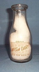 West View Dairy, Souderton, PA pint milk bottle
