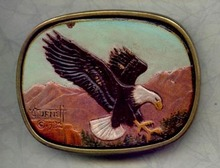 Surnett  eagle  brass belt buckle