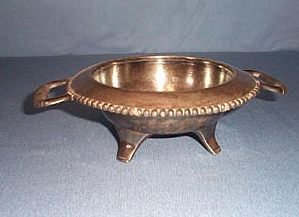 Derby Silver Co. quadruple plate open butter dish