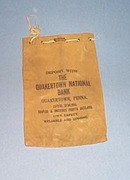 Quakertown  National Bank  bank bag, Quakertown PA