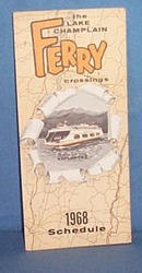 1968 Lake Champlain Ferry crossings schedule
