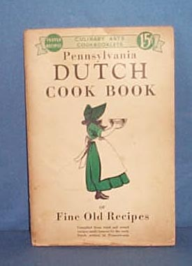 Pennsylvania Dutch Cook Book with dust jacket by Culinary Arts Press