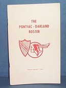 The Pontiac - Oakland Roster, January 1, 1978