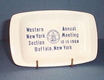 American Ceramic Society Western New York Section Annual Meeting, Buffalo NY 12-13-1968 ceramic tray