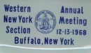 American Ceramic Society Western New York Section Annual Meeting, Buffalo NY 12-13-1968 ceramic tray