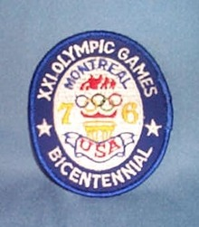 1976 XXI Montreal Olympic Games patch - United States Bicentennial