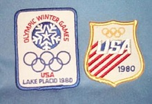 1980 Lake Placid Olympic Games patches - United States