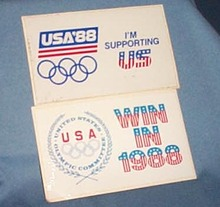 1988 Olympic Games stickers - United States