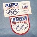 1992 Olympic Games patch and sticker - United States
