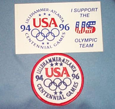 1994-1996 Olympic Games patch and sticker - United States