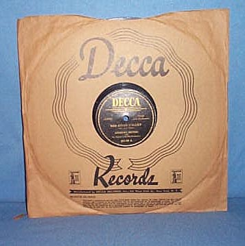 78 RPM Down in the Valley by the Andrews Sisters