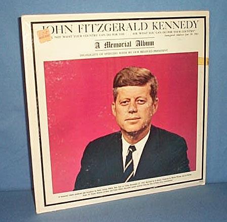 33 RPM LP John Fitzgerald Kennedy A Memorial Album